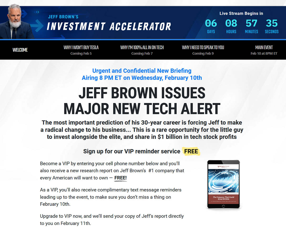 Jeff Brown Investment Accelerator Summit