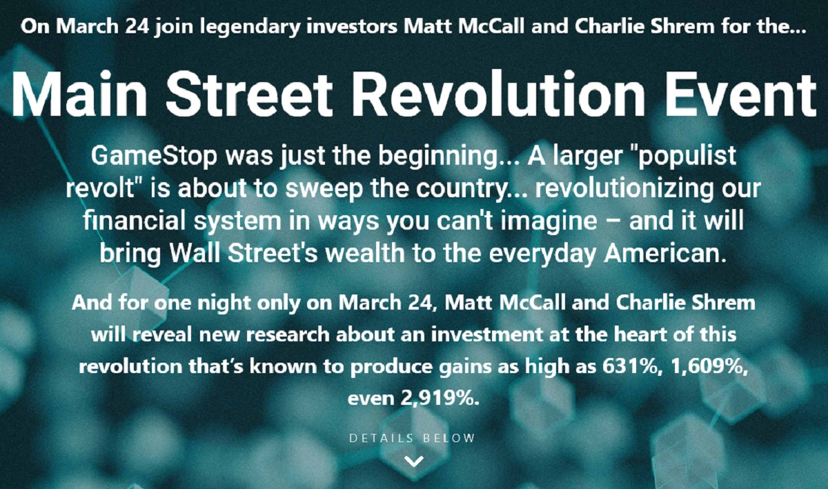 Matt McCall's Ultimate Crypto: The Main Street Revolution Event