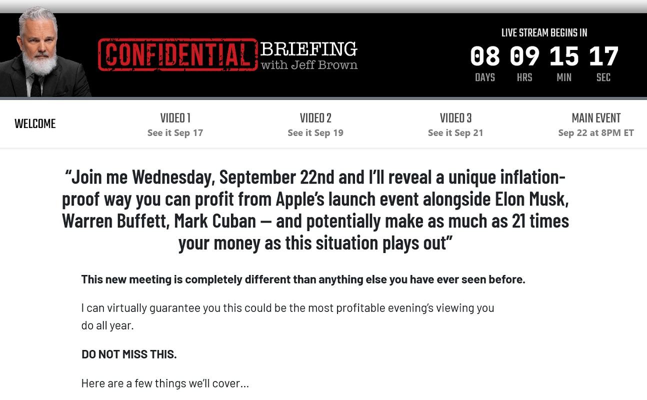Jeff Brown's Confidential Briefing - Profit From Apple's Next Big Move