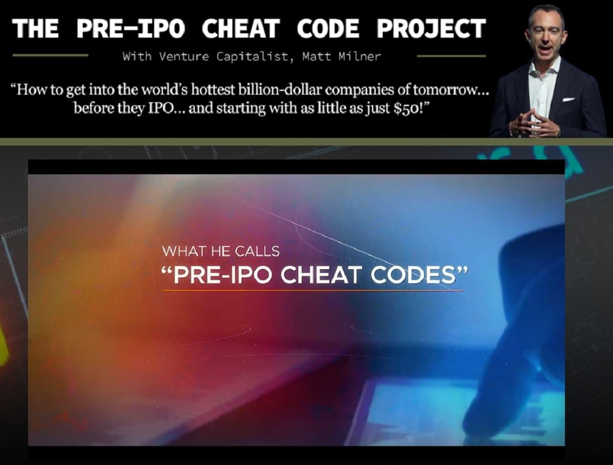 Matt Milner's Pre-IPO Cheat Codes Review